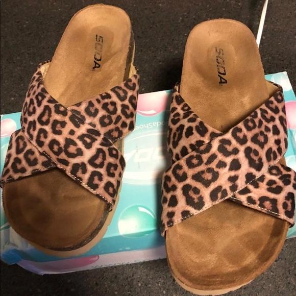 Soda Shoes | Ladies Leopard Print